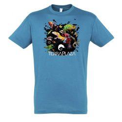 XXX3 montázs aqua férfi póló