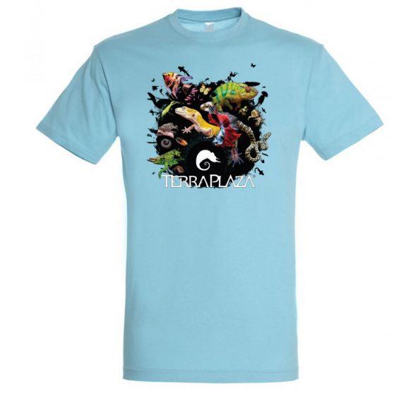 XXX3 montázs atoll blue férfi póló