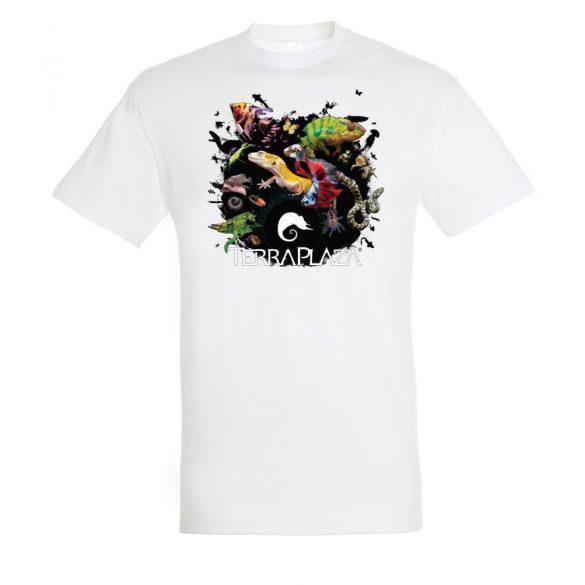 XXX3 montázs white férfi póló
