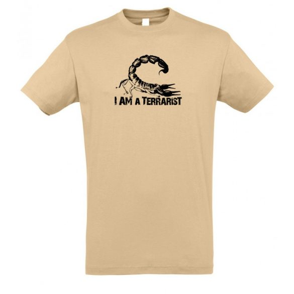I'm a terrarist scorpion sand férfi póló