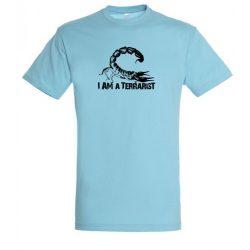 I'm a terrarist scorpion atoll blue férfi póló