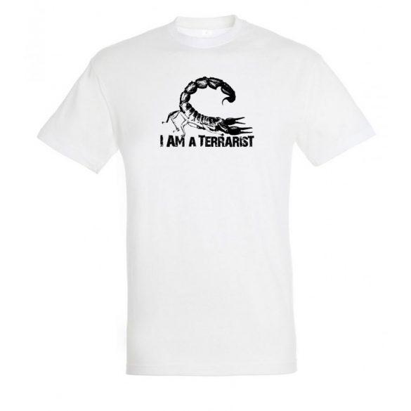 I'm a terrarist scorpion white férfi póló