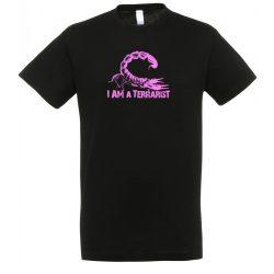 I'm a terrarist purple black férfi póló