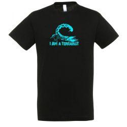 I'm a terrarist blue black férfi póló