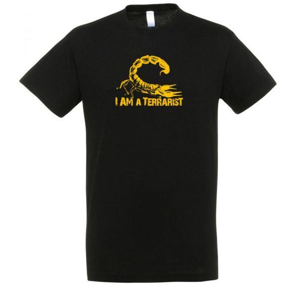 I'm a terrarist yellow black férfi póló
