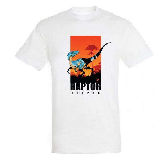 Raptor keeper white férfi póló