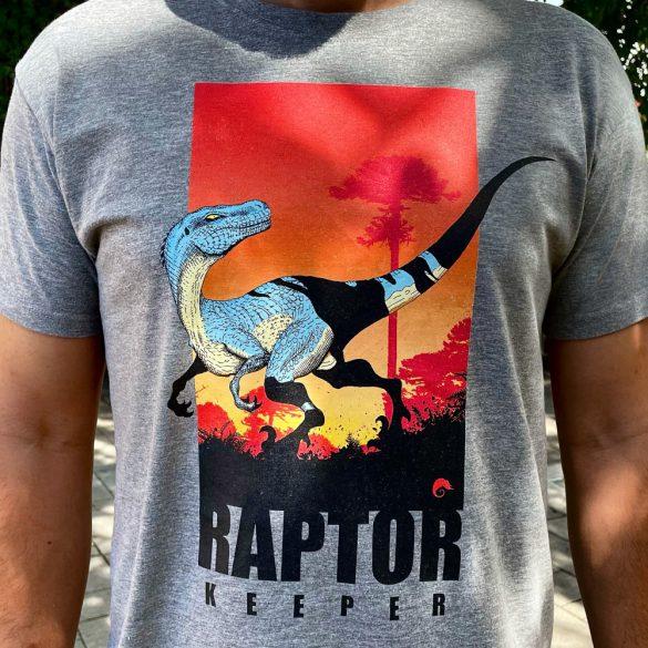 Raptor keeper grey melange férfi póló