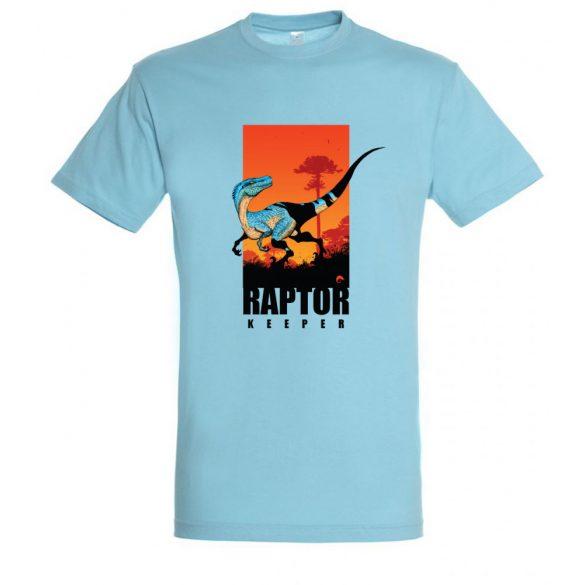 Raptor keeper atoll blue férfi póló