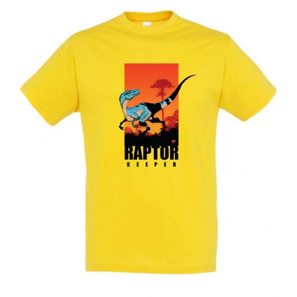Raptor keeper gold férfi póló