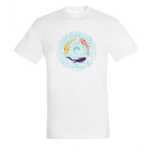 Axolotl white férfi póló
