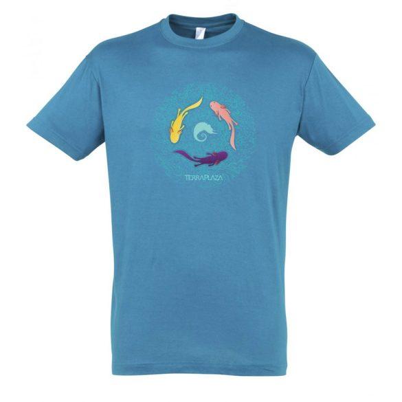 Axolotl aqua férfi póló