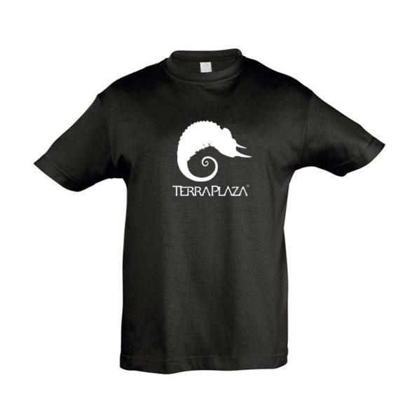 TerraPlaza simple logo fekete gyermek póló
