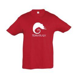 TerraPlaza simple logo red gyermek póló
