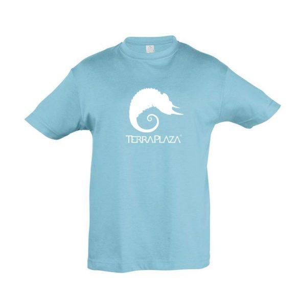 TerraPlaza simple logo atoll blue gyermek póló