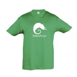 TerraPlaza simple logo kelly green gyermek póló