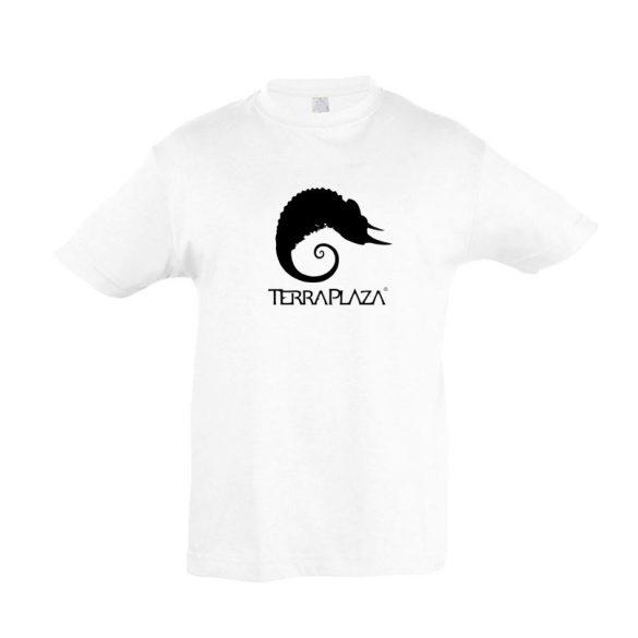 TerraPlaza simple logo fehér gyermek póló