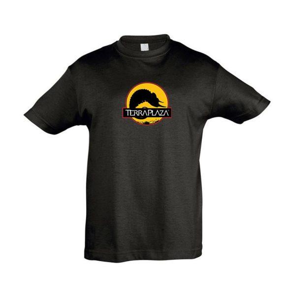 2019 október TerraPlaza logo fekete gyermek póló