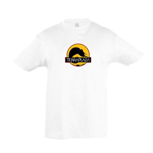 2019 október TerraPlaza logo fehér gyermek póló