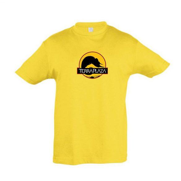 2019 október TerraPlaza logo gold gyermek póló