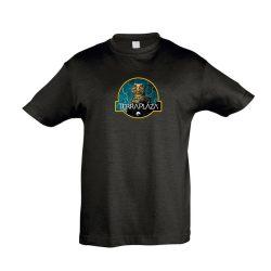 Uromastyx fekete gyermek póló