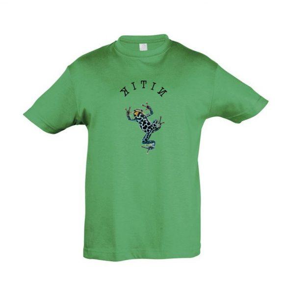Dendrobates kelly green gyermek póló
