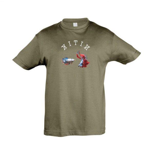 Betta splendens army gyermek póló