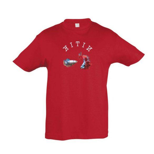 Betta splendens red gyermek póló