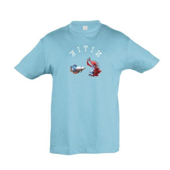Betta splendens atoll blue gyermek póló