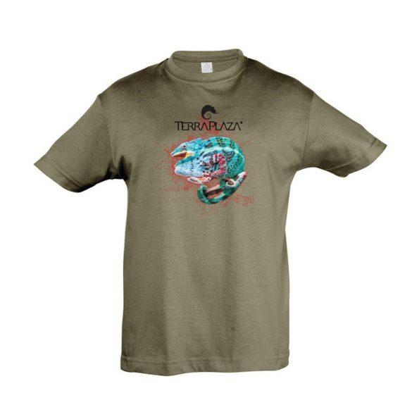 Furcifer pardalis XXX5 army gyermek póló
