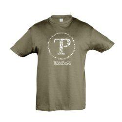 TerraPlaza kör fehér logo army gyermek póló