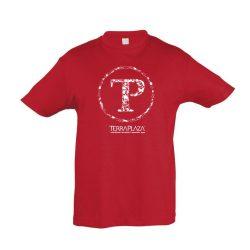 TerraPlaza kör fehér logo red gyermek póló