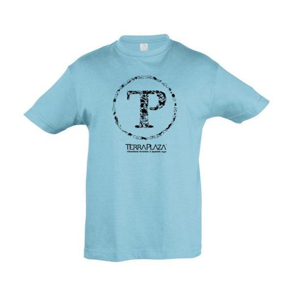 TerraPlaza kör fekete logo atoll blue gyermek póló