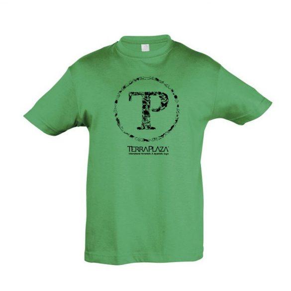 TerraPlaza kör fekete logo kelly green gyermek póló