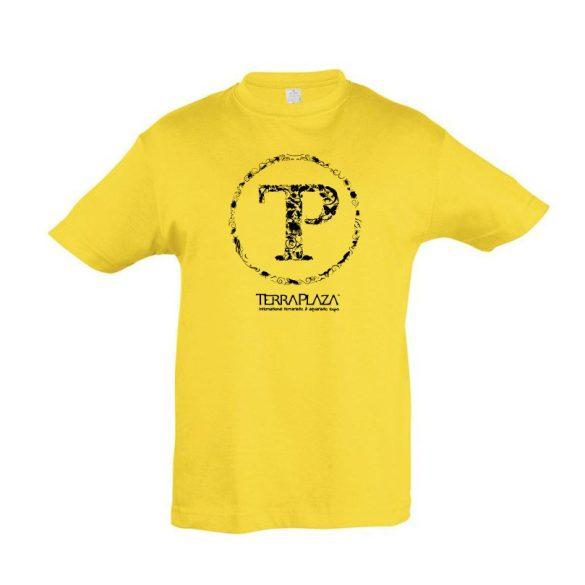 TerraPlaza kör fekete logo gold gyermek póló
