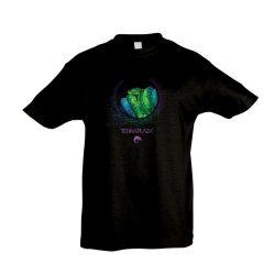 Morelia viridis XXX7 fekete gyermek póló