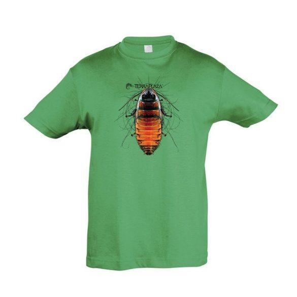 Gromphadorhina kelly green gyermek póló