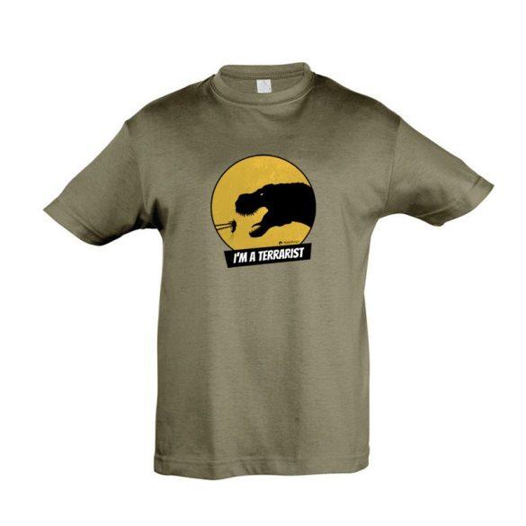 T-rex terrarista army gyermek póló