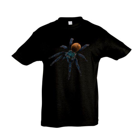 Chromatopelma cyaneopubescens madárpók black gyermek póló