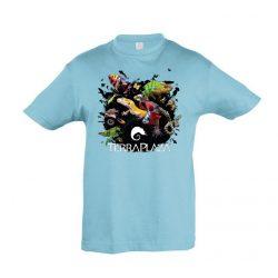 XXX3 montázs atoll blue gyermek póló