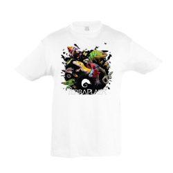 XXX3 montázs white gyermek póló