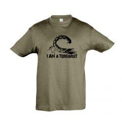 I'm a terrarist scorpion army gyermek póló