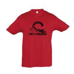 I'm a terrarist scorpion red gyermek póló
