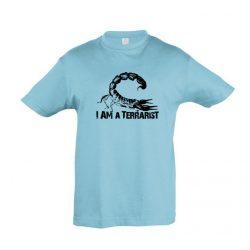 I'm a terrarist scorpion atoll blue gyermek póló