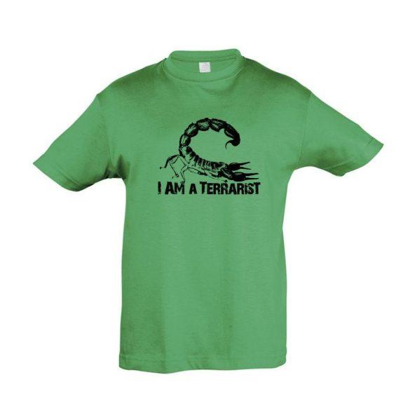 I'm a terrarist scorpion green gyermek póló