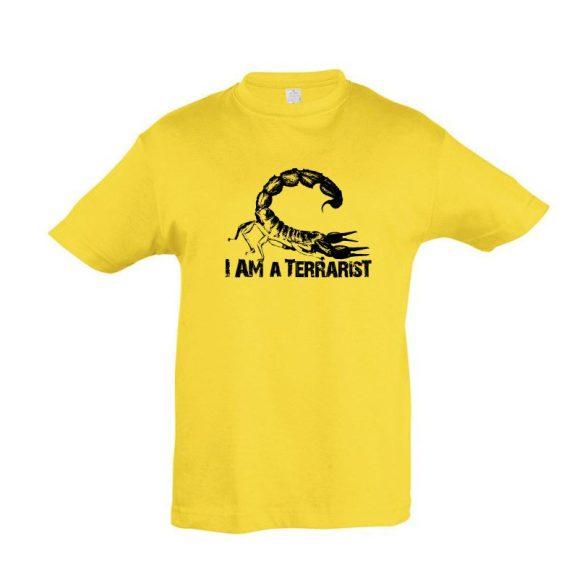 I'm a terrarist scorpion gold gyermek póló