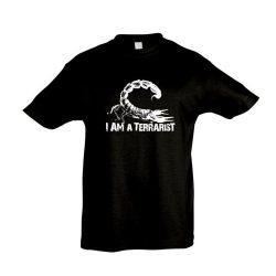 I'm a terrarist scorpion white black gyermek póló
