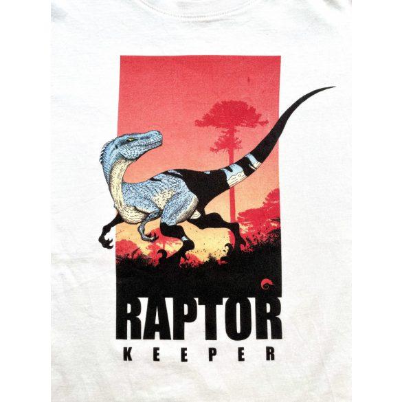 Raptor keeper white gyermek póló