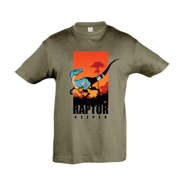 Raptor keeper army gyermek póló