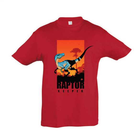 Raptor keeper red gyermek póló