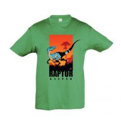 Raptor keeper green gyermek póló
